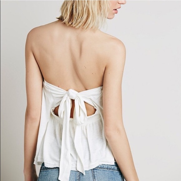 Brand New with Tags Free People Tube Top Tie Back 66596e232